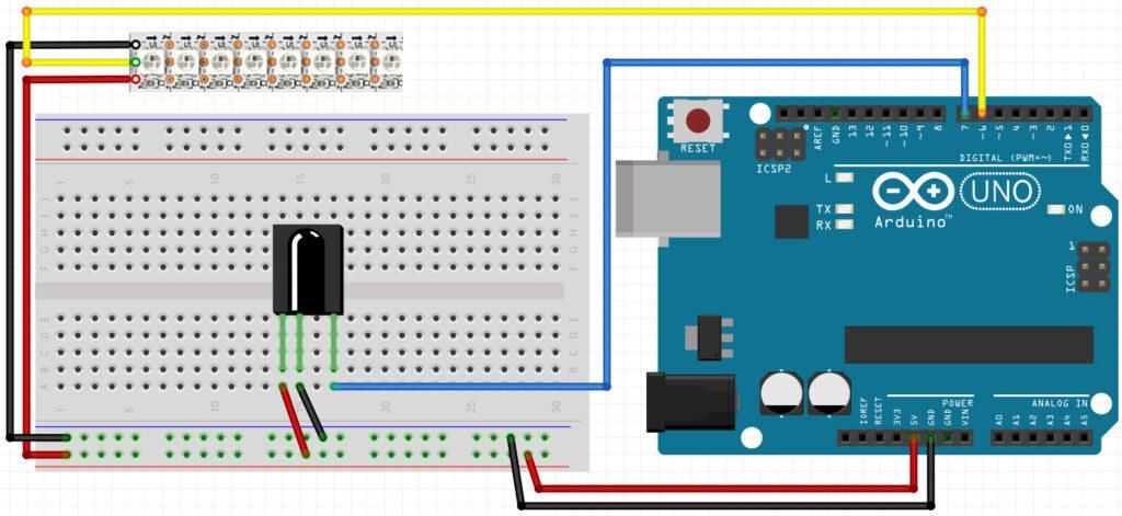 układ sterowanie RGB WS2812b